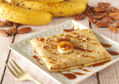 Crêpes Bananes Flambées et Caramel